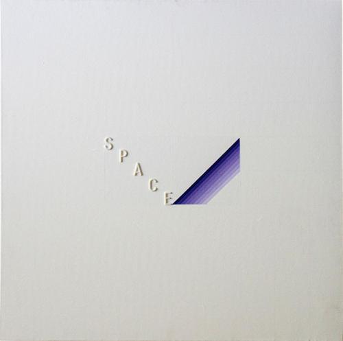 19_Space-000M-(C13)-cm-40x40-Acrilico-su-tela-con-lettere-a-rilievo-1979
